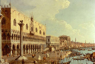 Painting by Canaletto
