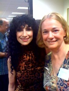 With Diane Ackerman at a reception in her honor at the Lawrence Family Jewish Community Center