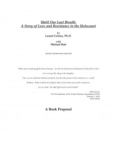 Title page of original 2004 book proposal