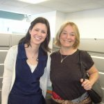 With Sarah Landis, my editor for THE FOUR SEASONS.  Thanks, Sarah, for your great work!