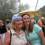 With niece Melanie at the Desert Botanical Garden in Phoenix