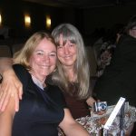 with my sister (and my toughest critic) at the San Diego Book Awards