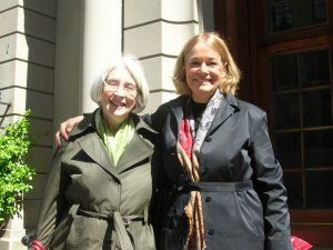 With author Stephanie Cowell in New York