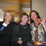 With friends June and Elizabeth at the San Diego Book Awards