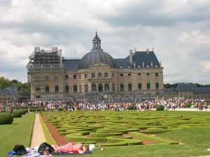 Celebration of the Grand Siecle at Vaux-le-Vicomte.  Notice costumed lady sacked out at lower left.