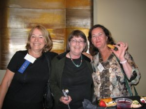 With two City College friends, June Cressy (middle) and Elizabeth Meehan (right) at the San Diego Book Awards in May 2009