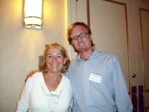 With author William Powers at the 2008 Backspace Conference in New York