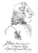 Caricature of Vivaldi by P.L.Ghezzi, Rome (1723)